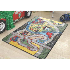 Коврик CONFETTI KIDS RUGS RACE (3мм) 100х150см зеленый